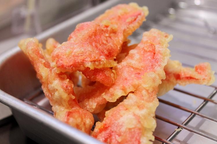 紅しょうがの天ぷら:阪急阪神百貨店
