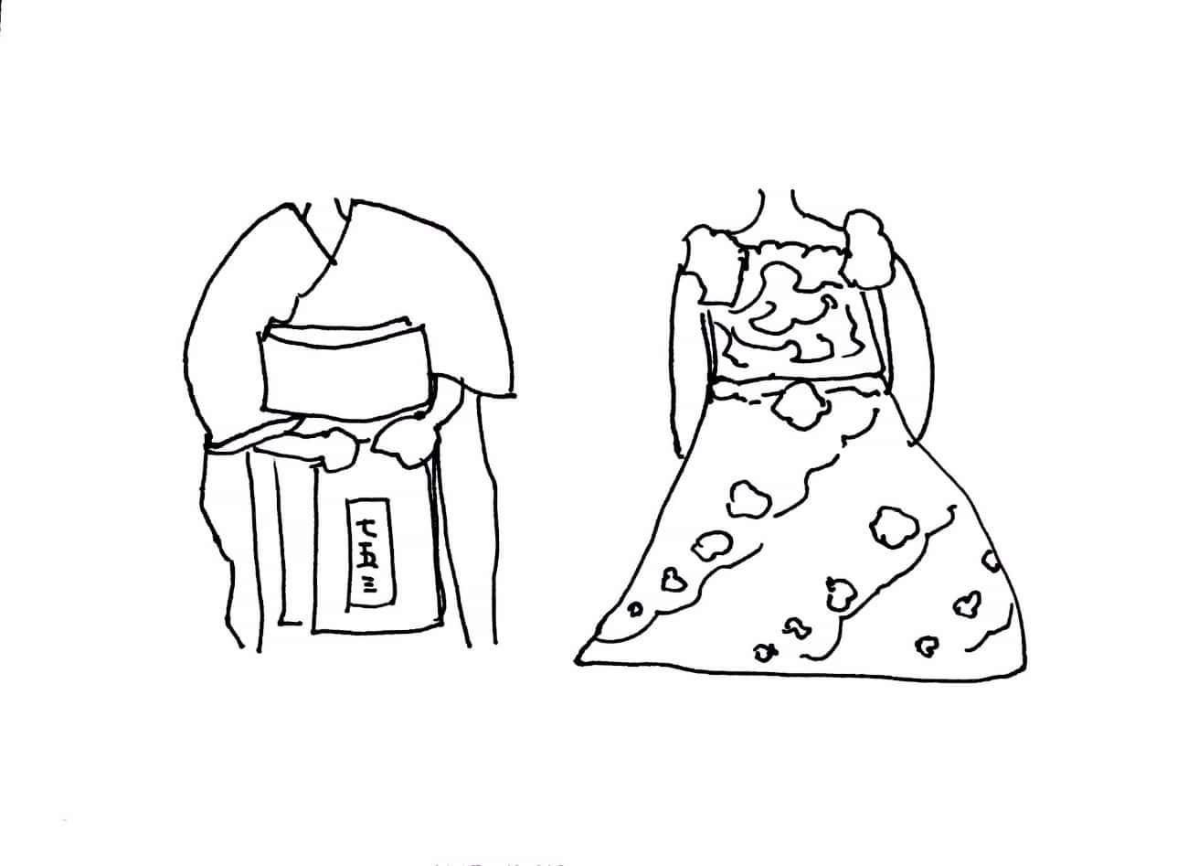 七五三 和装と洋装