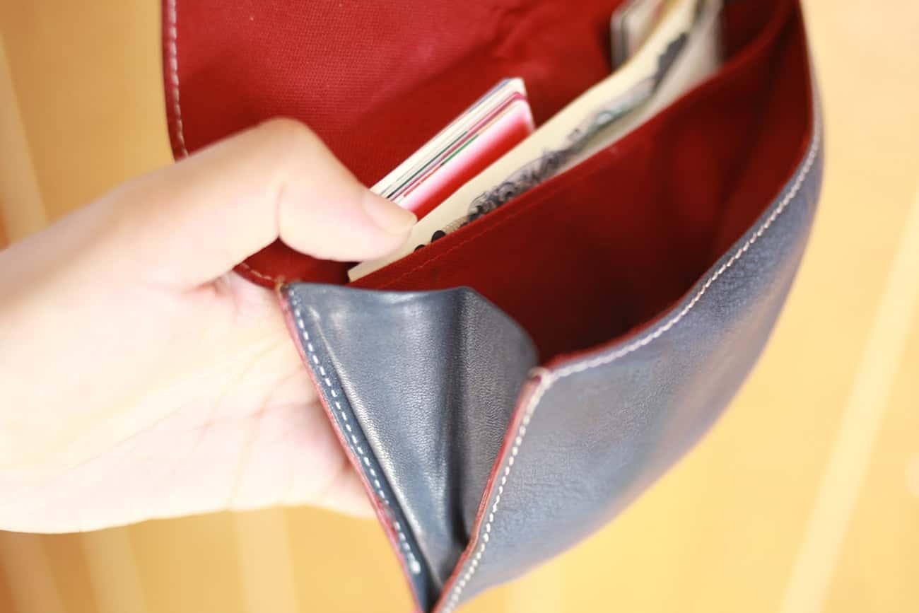 旅行財布:小銭入れのマチ