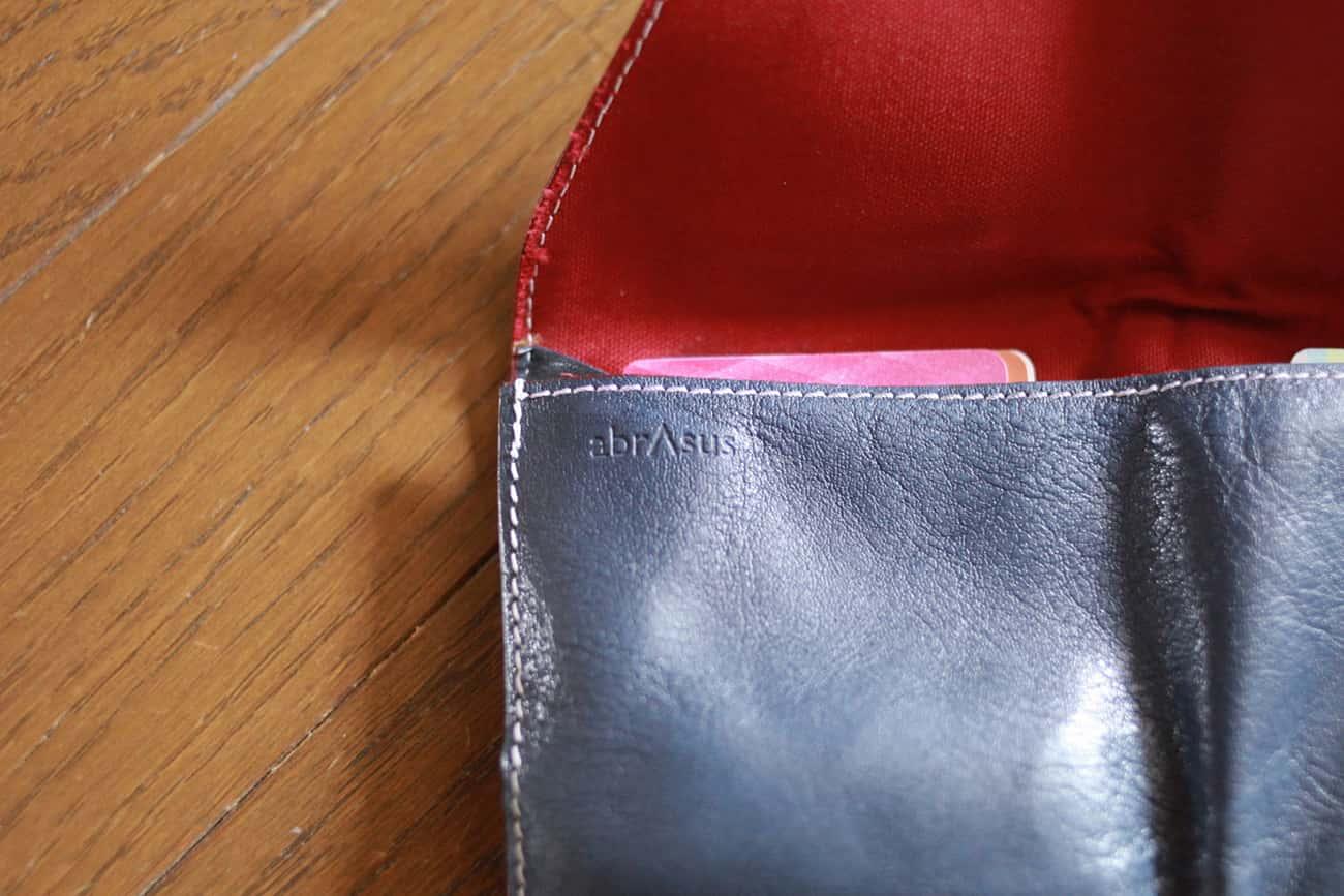 旅行財布:刻印