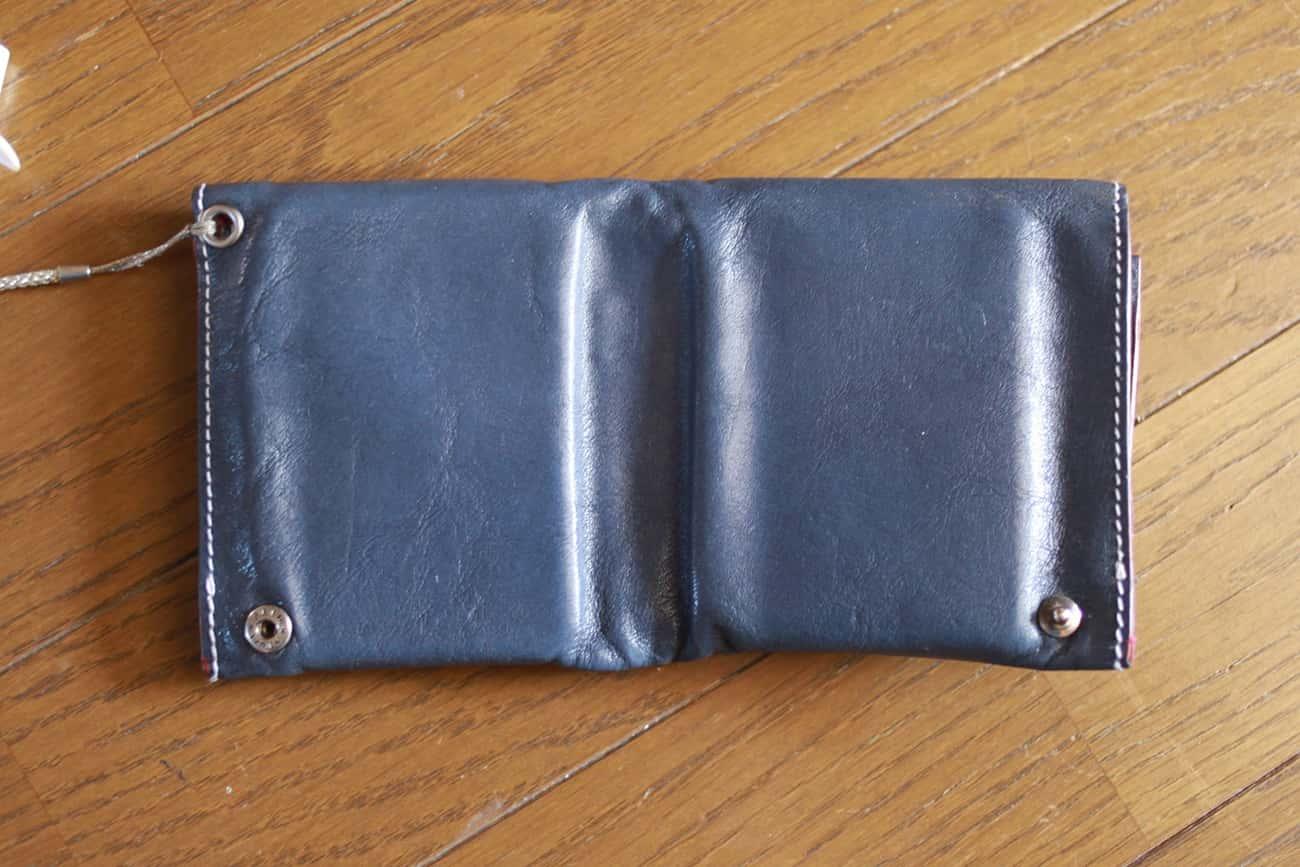 旅行財布:ひろげた状態(裏)