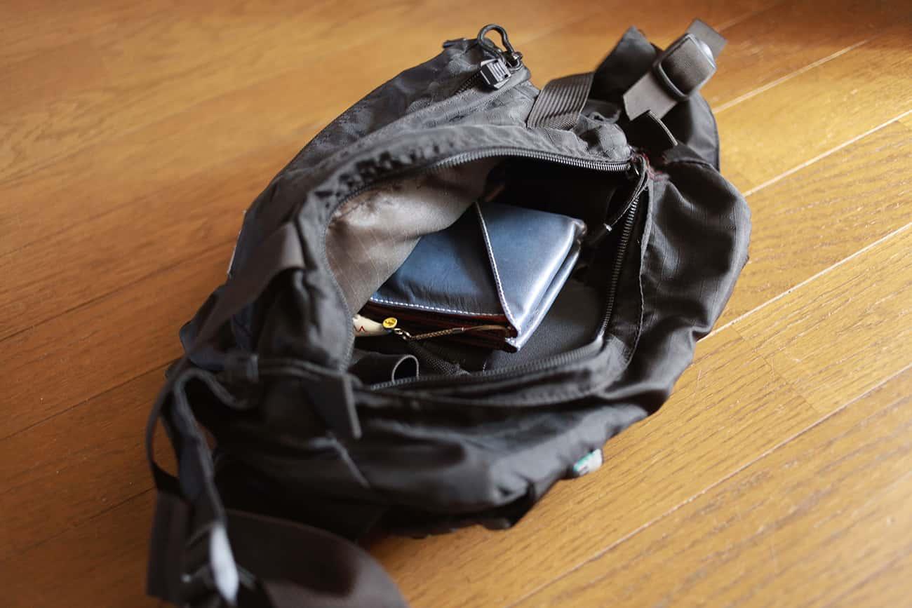 旅行財布:バッグ