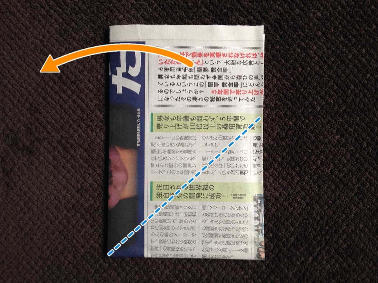 新聞紙で作る万能タイプゴミ箱:ステップ5