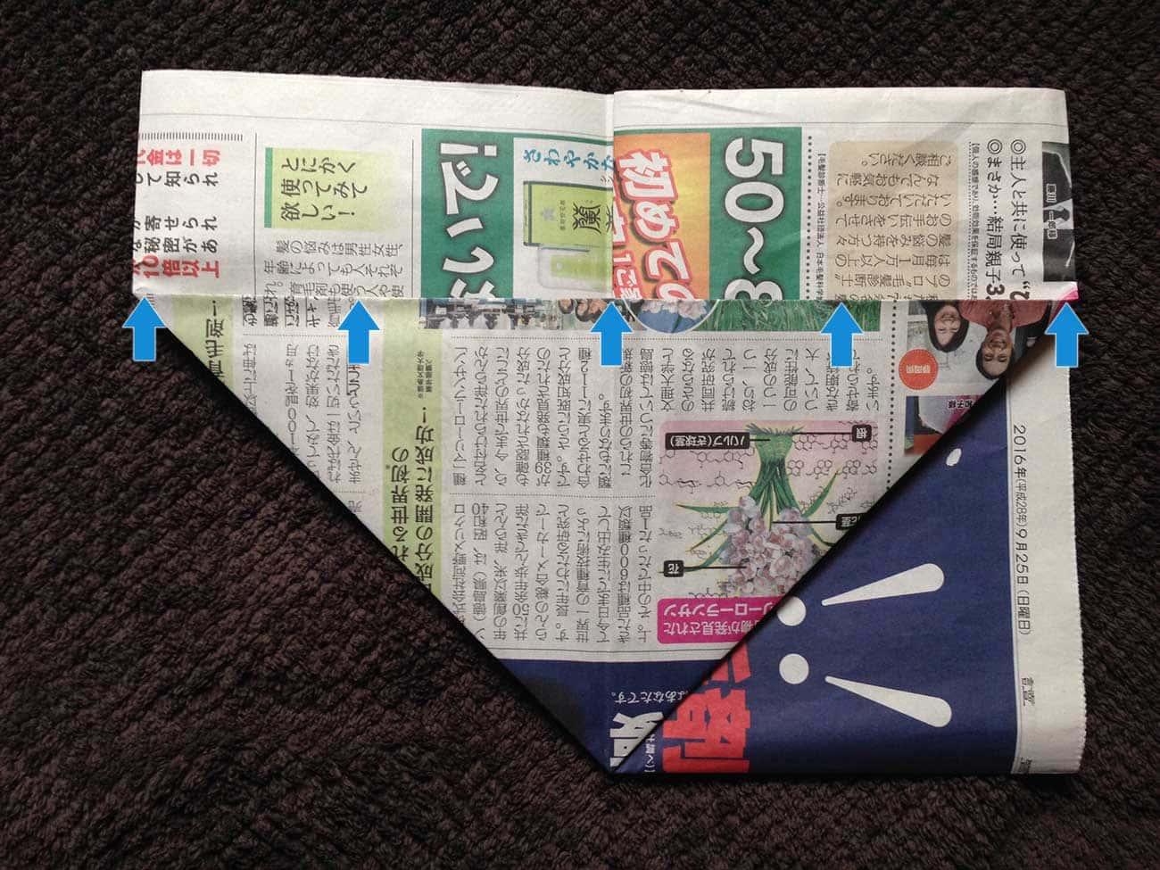 新聞紙で作る万能タイプゴミ箱:ステップ6