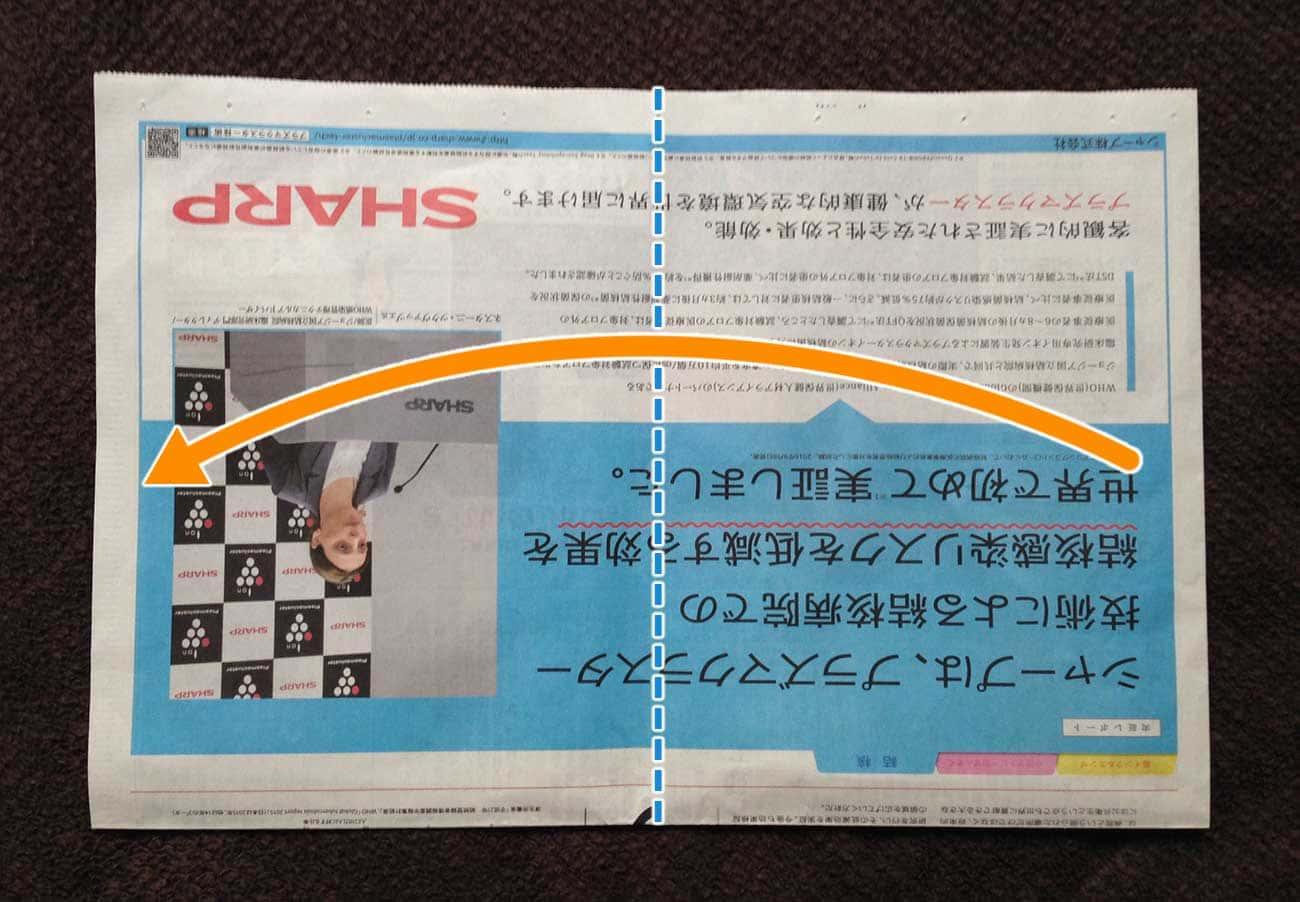 新聞紙で作る万能深型タイプゴミ箱:ステップ3