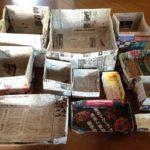 新聞紙でも丈夫なゴミ箱が簡単にできる!大きい・深い 種類別作り方