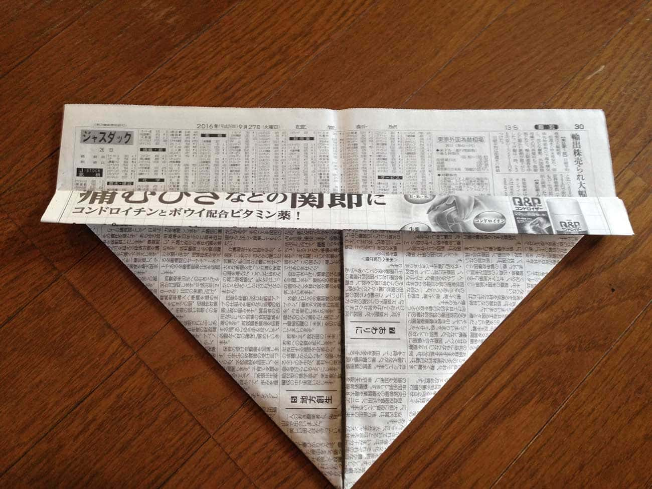 新聞紙で作るキッチン用ゴミ箱:ステップ4-2