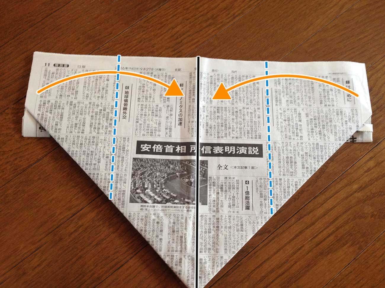 新聞紙で作るキッチン用ゴミ箱:ステップ5