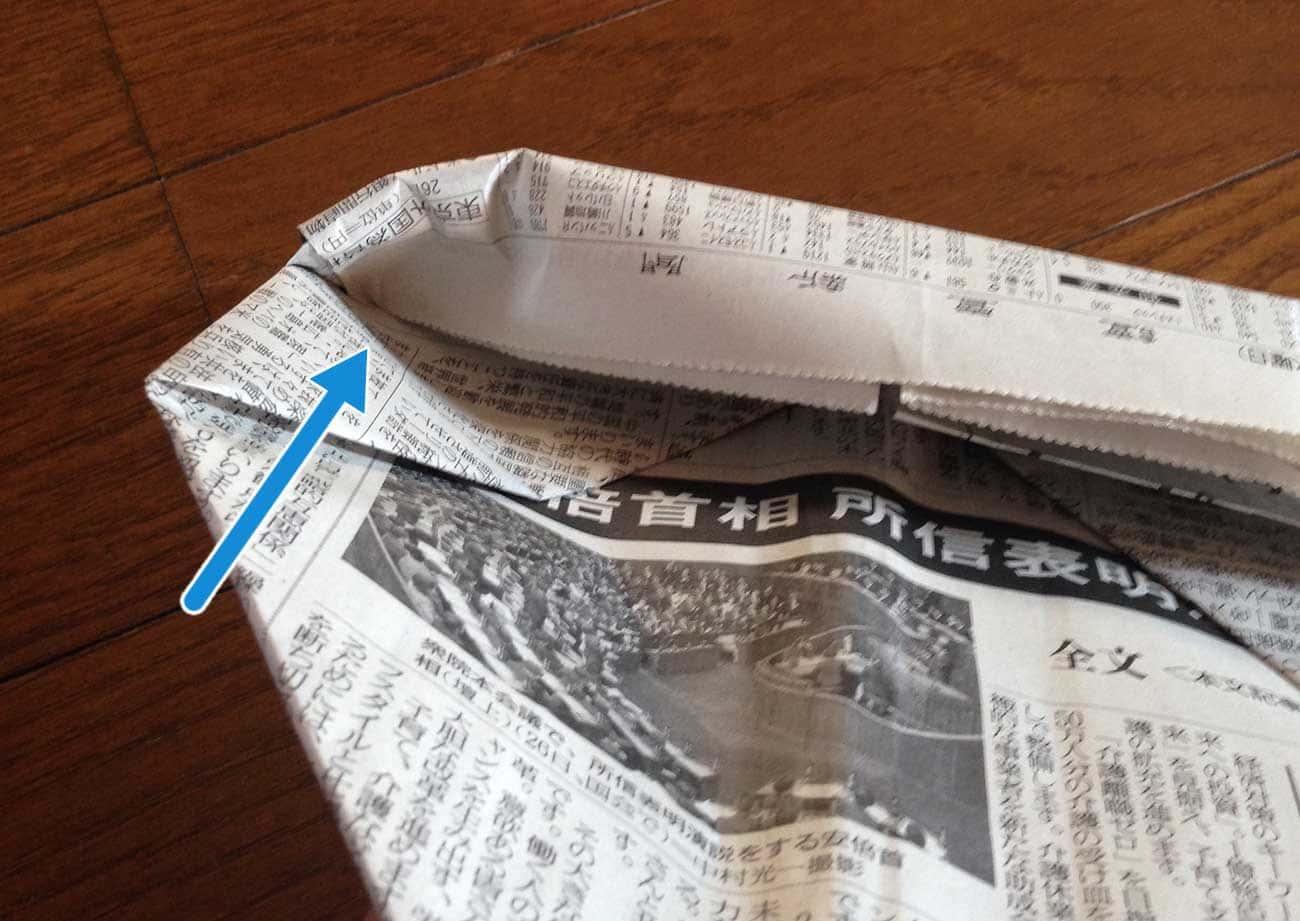 新聞紙で作るキッチン用ゴミ箱:ステップ7-2