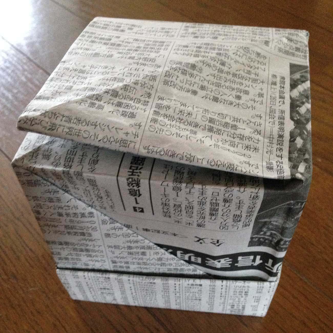 新聞紙で作るキッチン用ゴミ箱:ステップ11