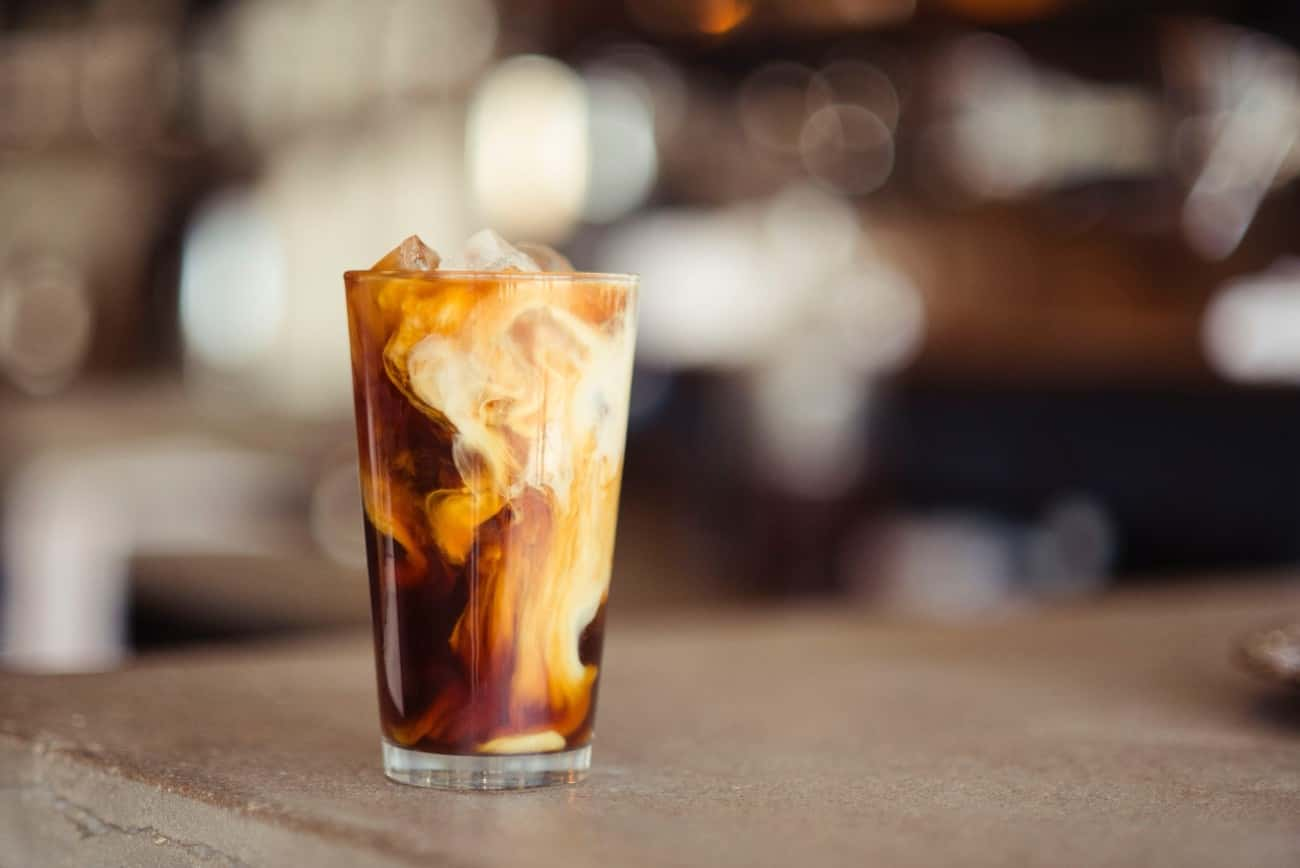 ブラックコーヒーアレンジ:カフェオレ
