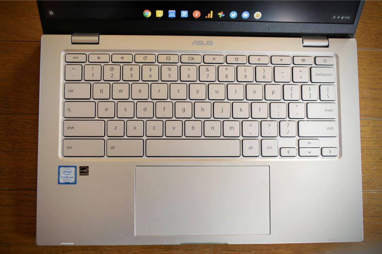 ASUS chromebook C425 キーボード