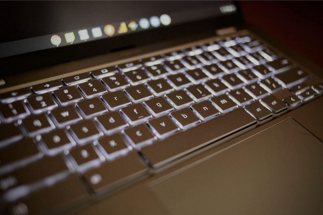 ASUS chromebook C425 バックライトキーボード