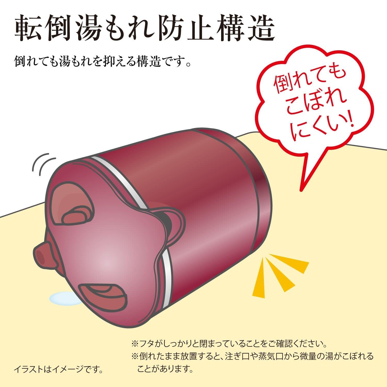 転倒湯漏れ防止構造 電気ケトル
