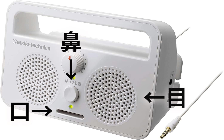 audio-technica AT-SP230TV 顔に見える