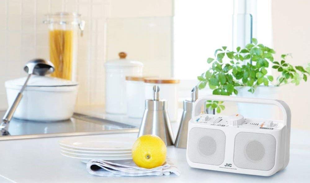 防滴機能付き手元スピーカー 料理中や洗い物にも